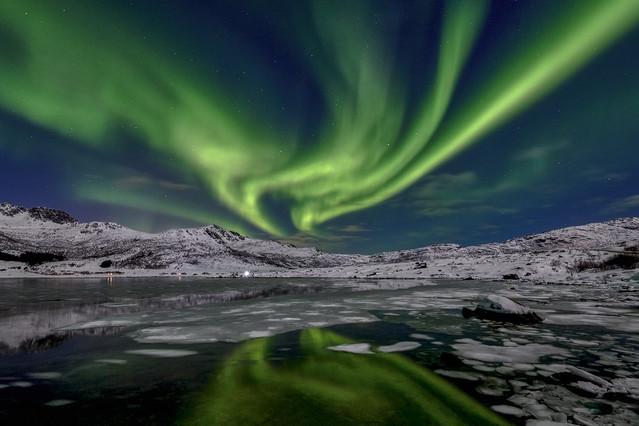 Aurora borealis Norwegia, Lofoty JAN SIEMINSKI #323749