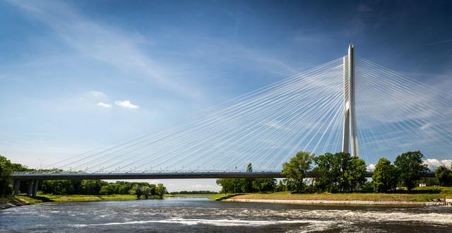 Most Rędziński. Wrocław Panorama złożona z 4 pionowych ujęć.
