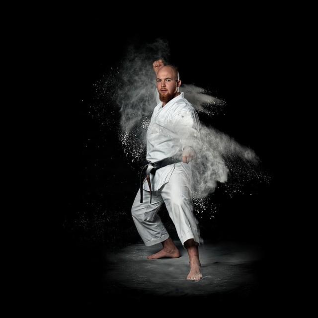 Na zdjęciu: Michał Sowa aktualny mistrz świata w karate