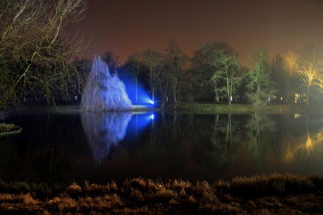Picasa zimowy wieczór światła w Łazienkach