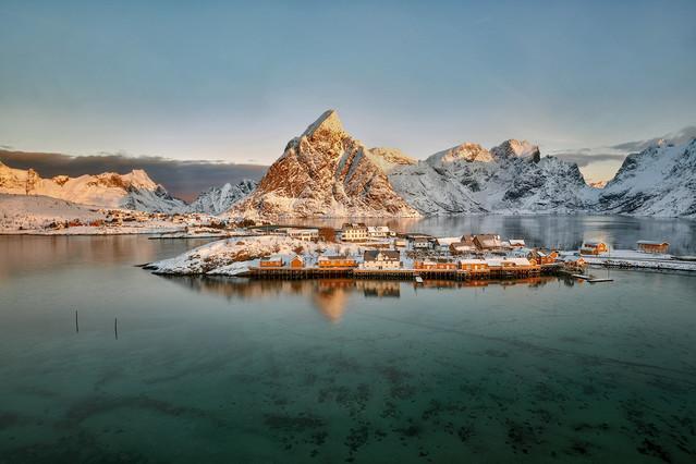 Poranek w Sakrisoy Norwegia, Lofoty Jan Siemiński #323748