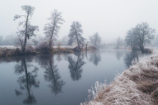 - Poranny przymrozek - Zdjęcie wykonałem o poranku nad rzeką
