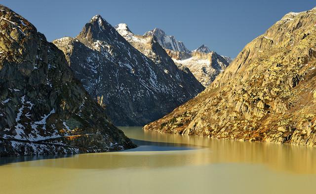 W Alpach Szwajcaria , Alpy po obfitych opadach JAN SIEMINSKI