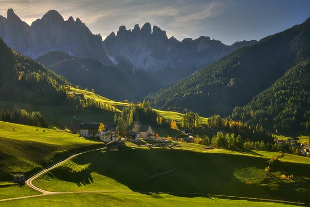 St. Magdalena Santa Magdalena , Dolomity, Włochy JAN SIEMINSKI