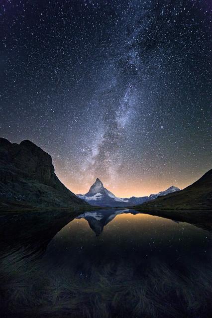 Night Dream under Matterhorn An incredible night, alone in tent,