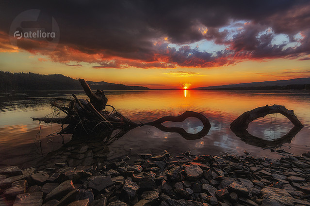 Zachód nad jeziorem Czorsztyńskim. Renata Barska #308040