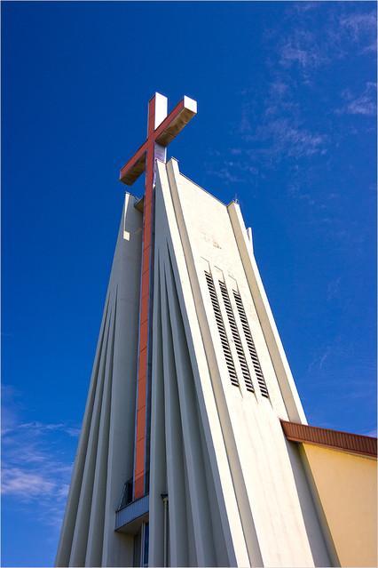 broonzy czerwony krzyż na niebieskim tle