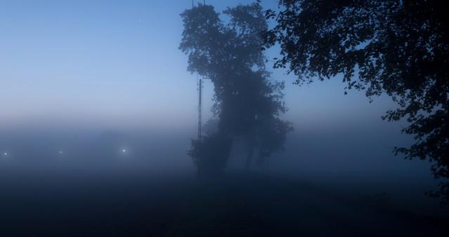 Morning in the village 1a Bardzo wcześnie rano. Duża mgła czyste