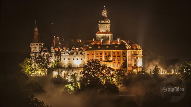Zamek Książ Nocne zwiedzanie zamku... super przeżycia