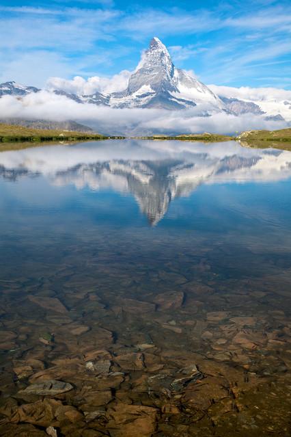 Blue Matterhorn The incredible Matterhorn reflect on Stellisee -