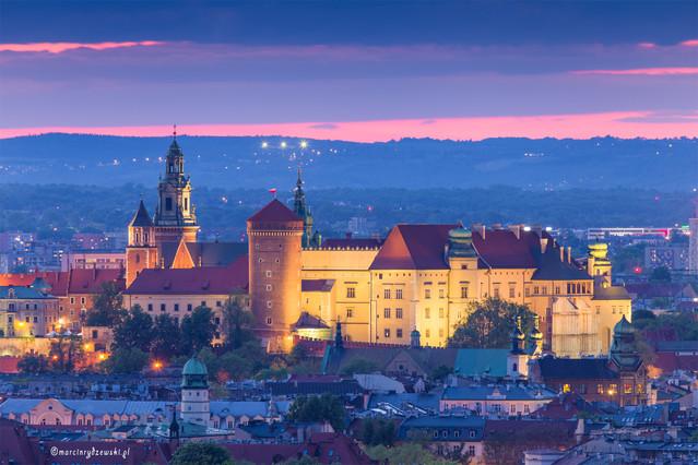 Niebieska godzina w Krakowie Marcin Rydzewski #331093