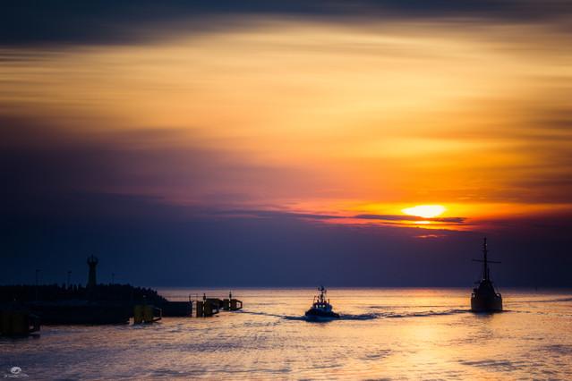 Zachód słońca - Kołobrzeg Krzysztof Tollas #330115